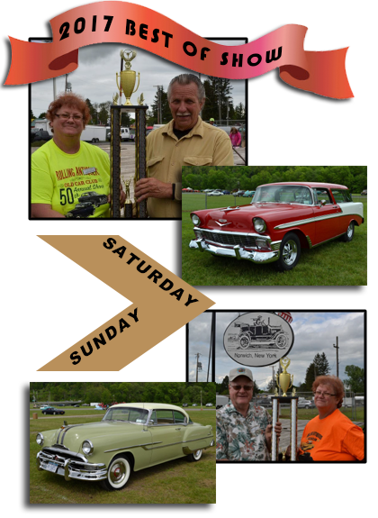 Best of Show winners for Rolling Antiquer's Old Car Club